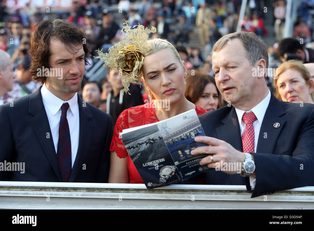 Kate Winslet with husband Ned Rocknroll and Winfried Engelbrecht Bresges - Stock Image