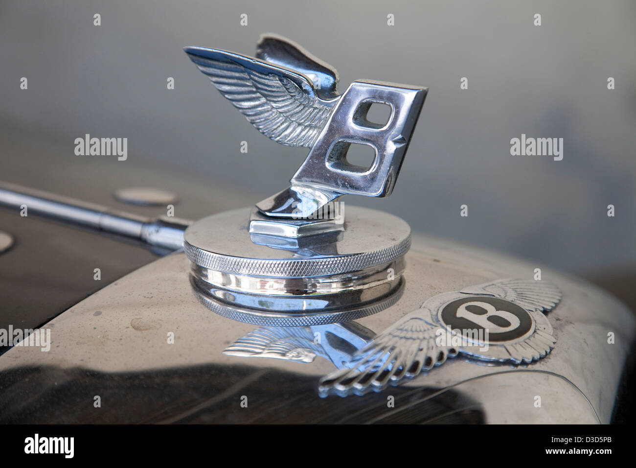 Dornbirn, Austria, a Bentley Flying B Kuehlerfigur Oldtimers Stock Photo