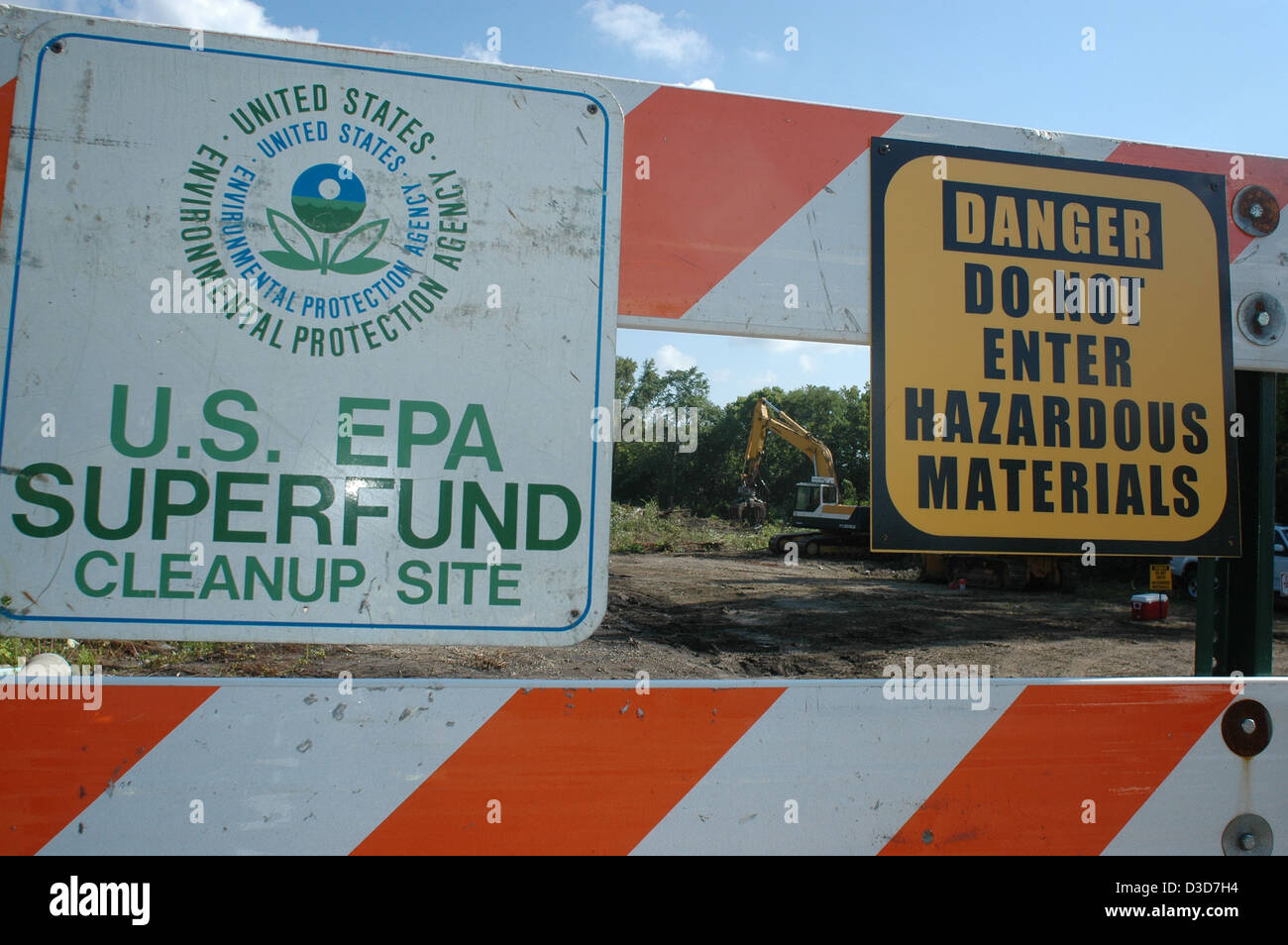 EPA superfund cleanup site Cincinnati Ohio - Stock Image