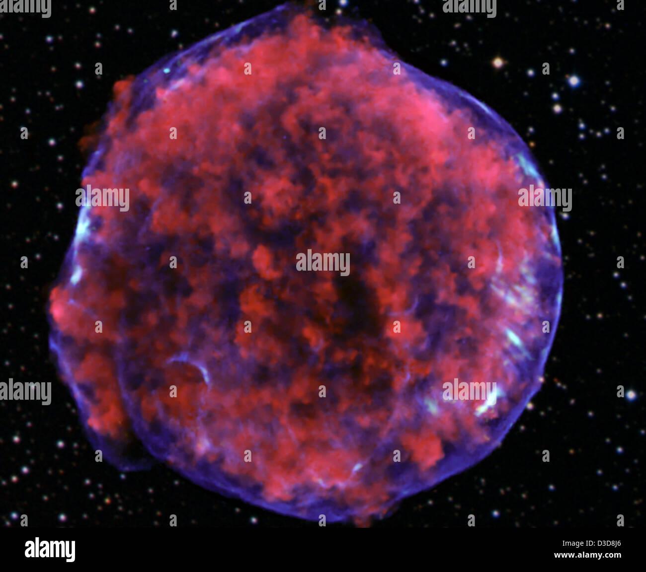 Tycho Supernova Remnant (NASA, Chandra, 03/24/11) - Stock Image