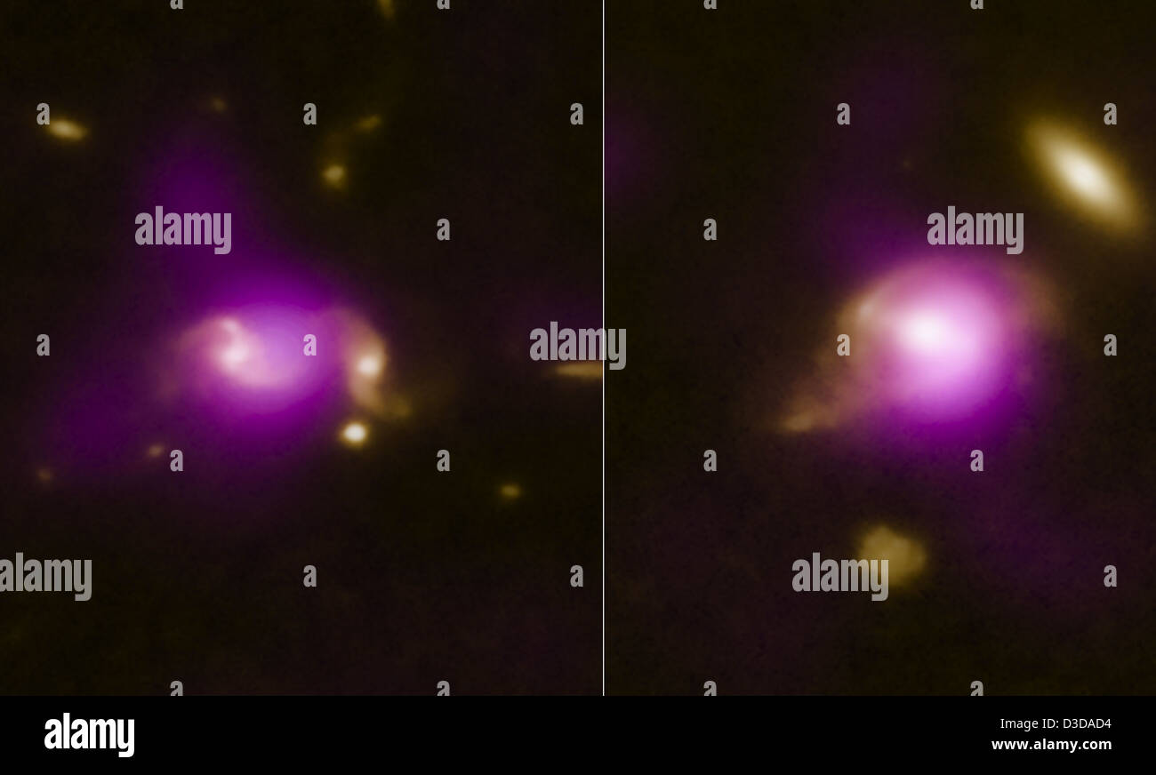 Close Encounters of the Galactic Kind (NASA, Chandra, Hubble, 10/25/11) - Stock Image