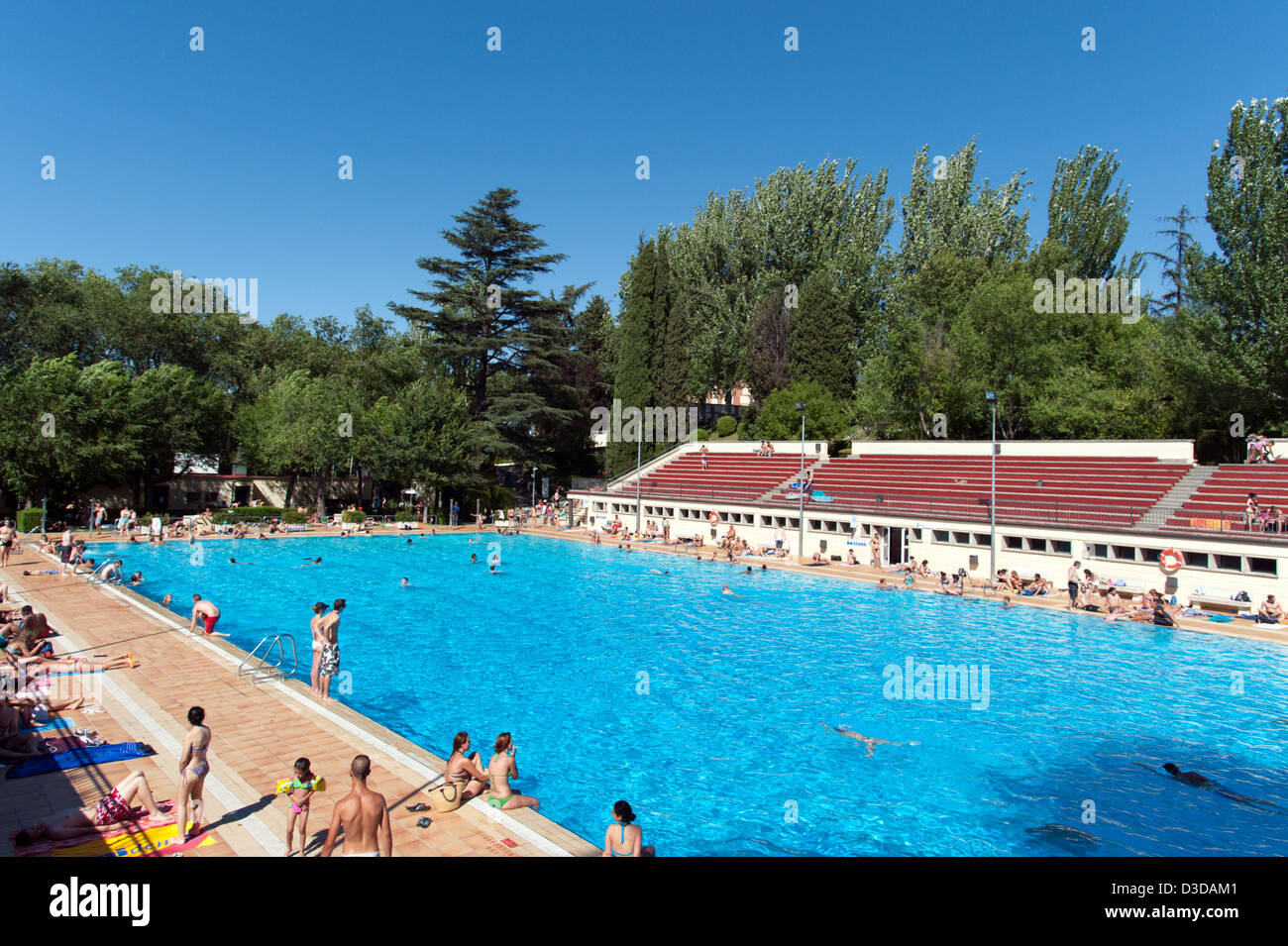 Open air swimming pool stock photos open air swimming - Hotels in madrid spain with swimming pool ...