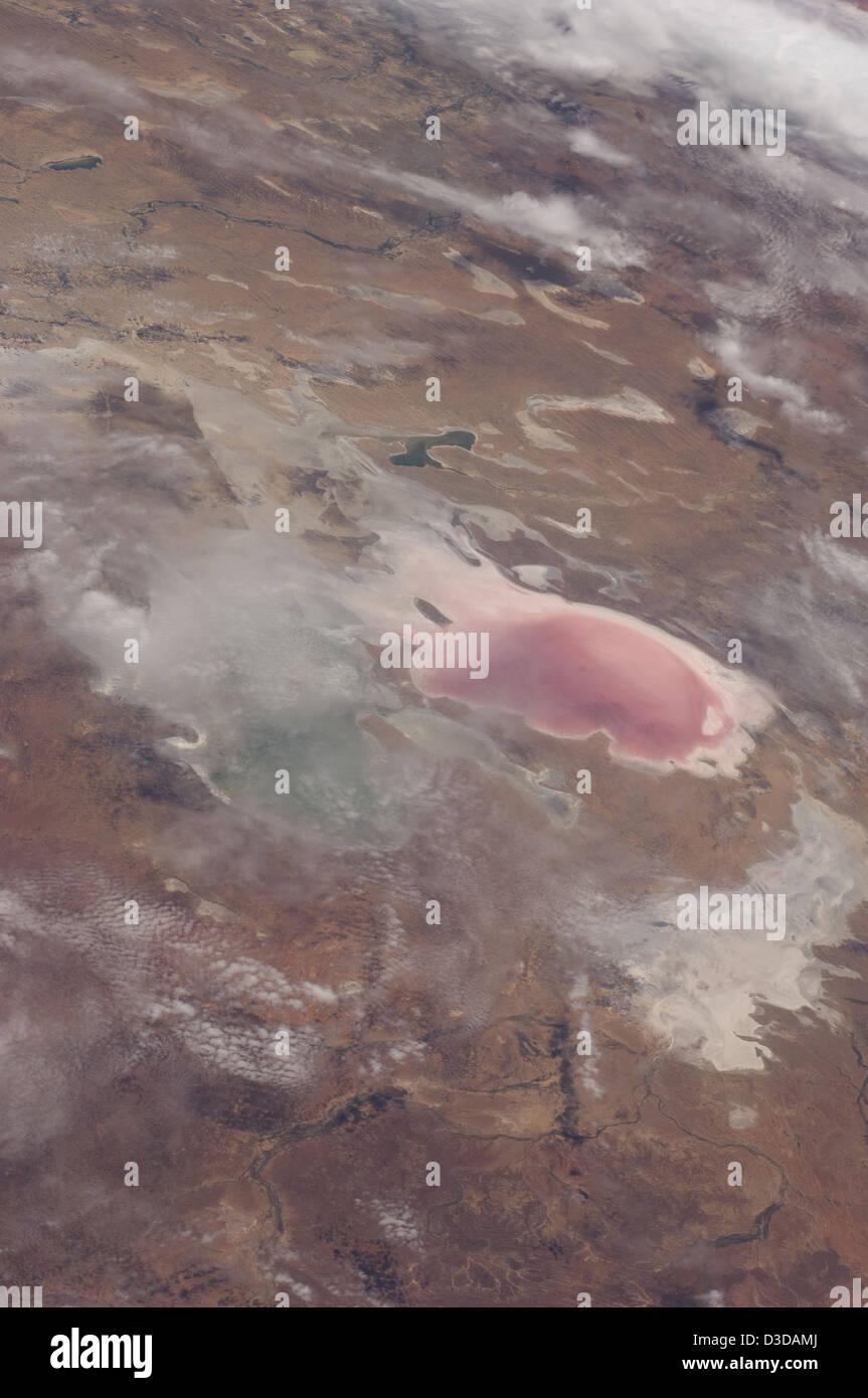 Lake Eyre Floods, South Australia (NASA, International Space Station, 12/05/11) - Stock Image