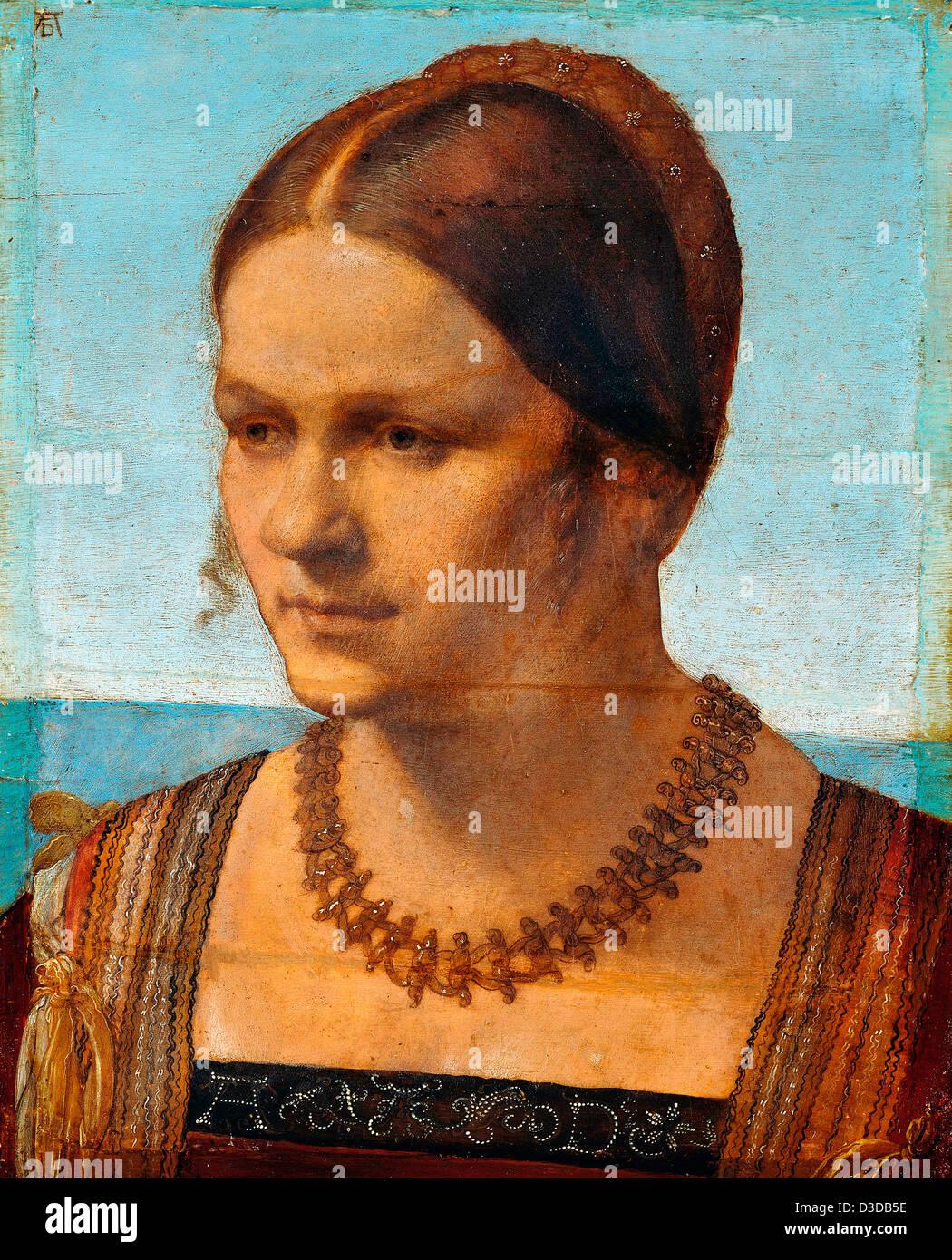 Albrecht Durer, Portrait of a Venetian Woman 1507 Oil on panel. Berlin State Museums - Stock Image