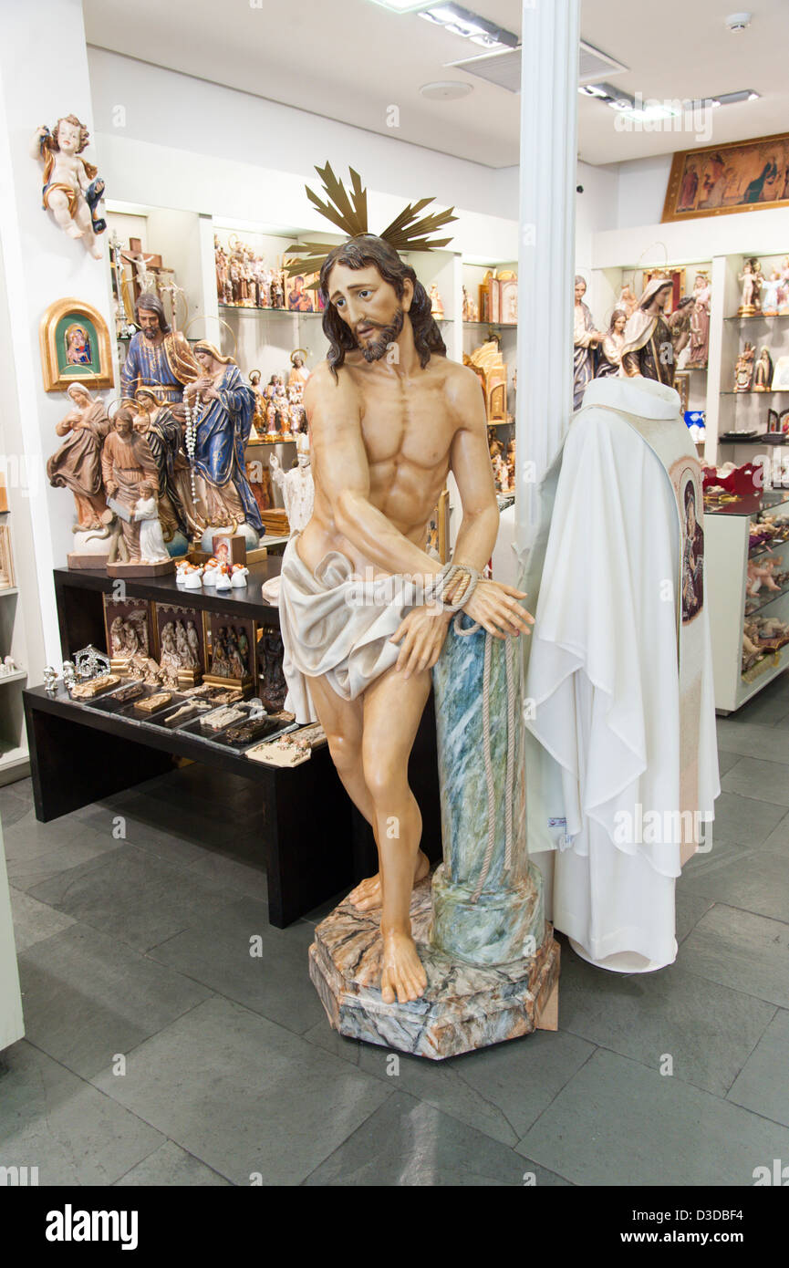 Figure of Jesus Christ in Belloso, a shop selling Christian merchandise, Madrid, Spain Stock Photo