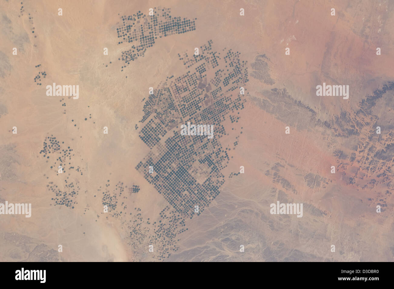 Wadi As-Sirhan Basin, Saudi Arabia (NASA, International Space Station, 02/21/12) - Stock Image