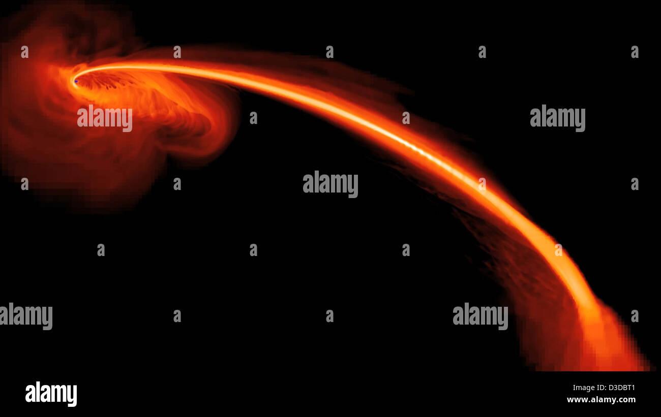 Black Hole Caught in a Stellar Homicide (NASA, Chandra, GALEX, 05/03/12) - Stock Image