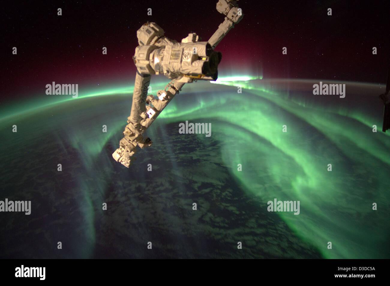 Aurora Australis (NASA, International Space Station, 07/15/12) - Stock Image