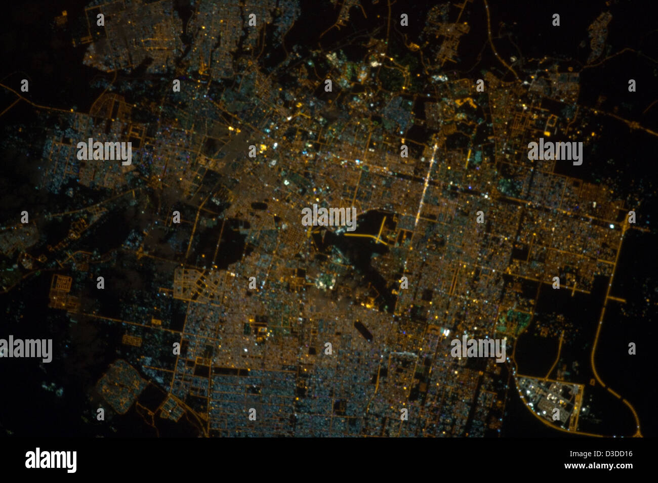 Riyadh, Saudi Arabia at Night (NASA, International Space Station, 11/13/12) - Stock Image