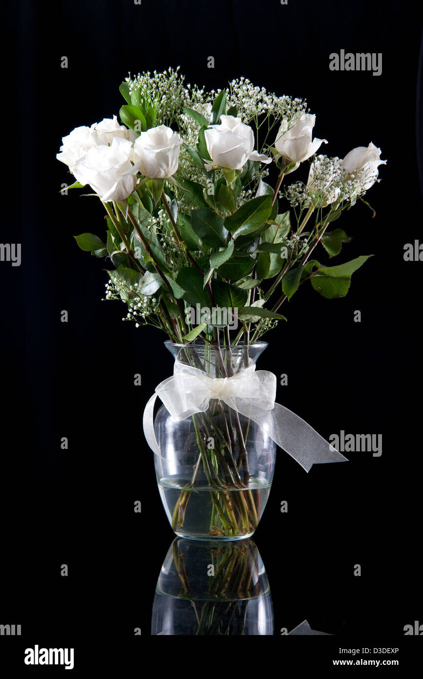 Glass Vase Black Background Stock Photos Glass Vase Black