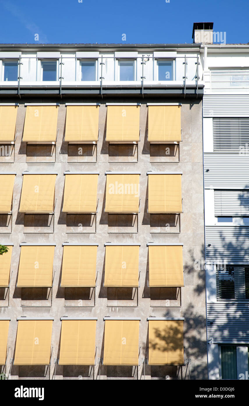 Essen, Germany, sun protection in one office building - Stock Image
