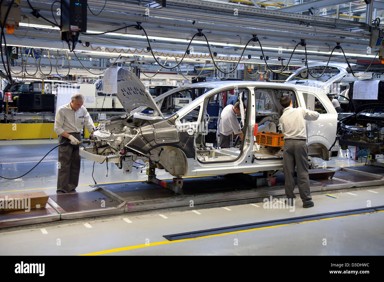 Bochum, Germany, car production at the Opel plant in Bochum - Stock Image