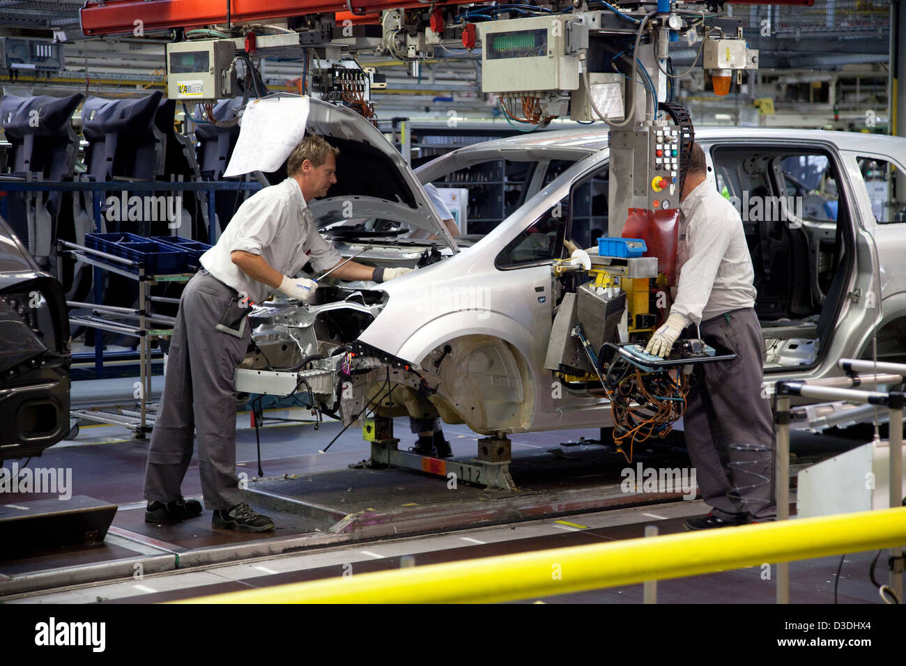 Bochum, Germany, car production at the Opel plant in Bochum Stock Photo