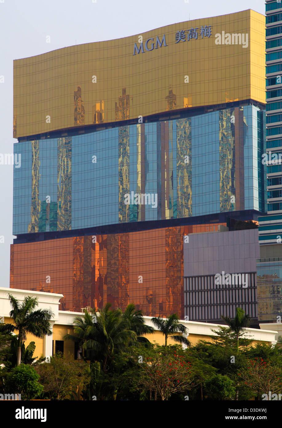 China, Macau, MGM Grand, hotel, casino, - Stock Image