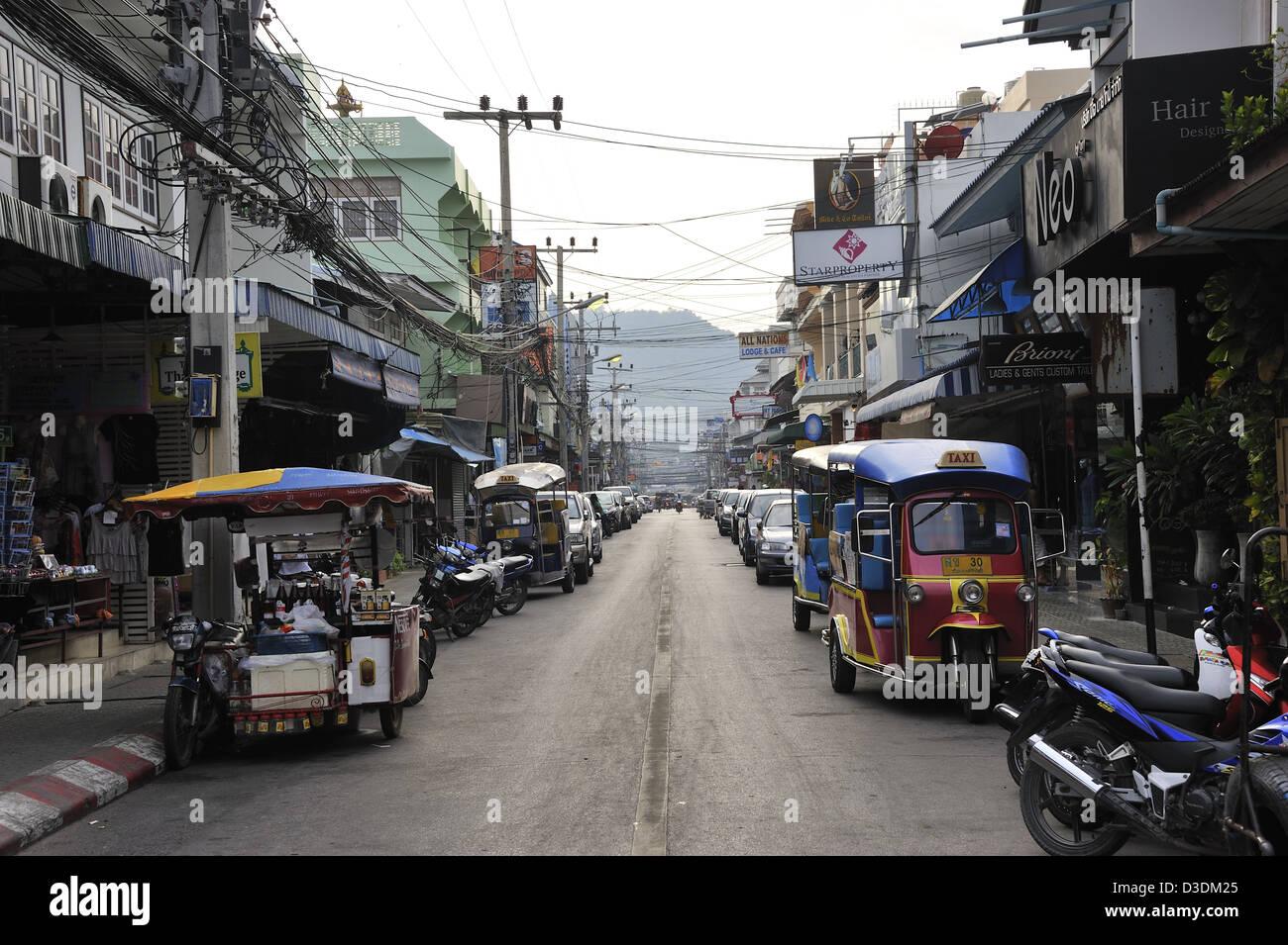 Sreet in Hua Hin City, Thailand - Stock Image