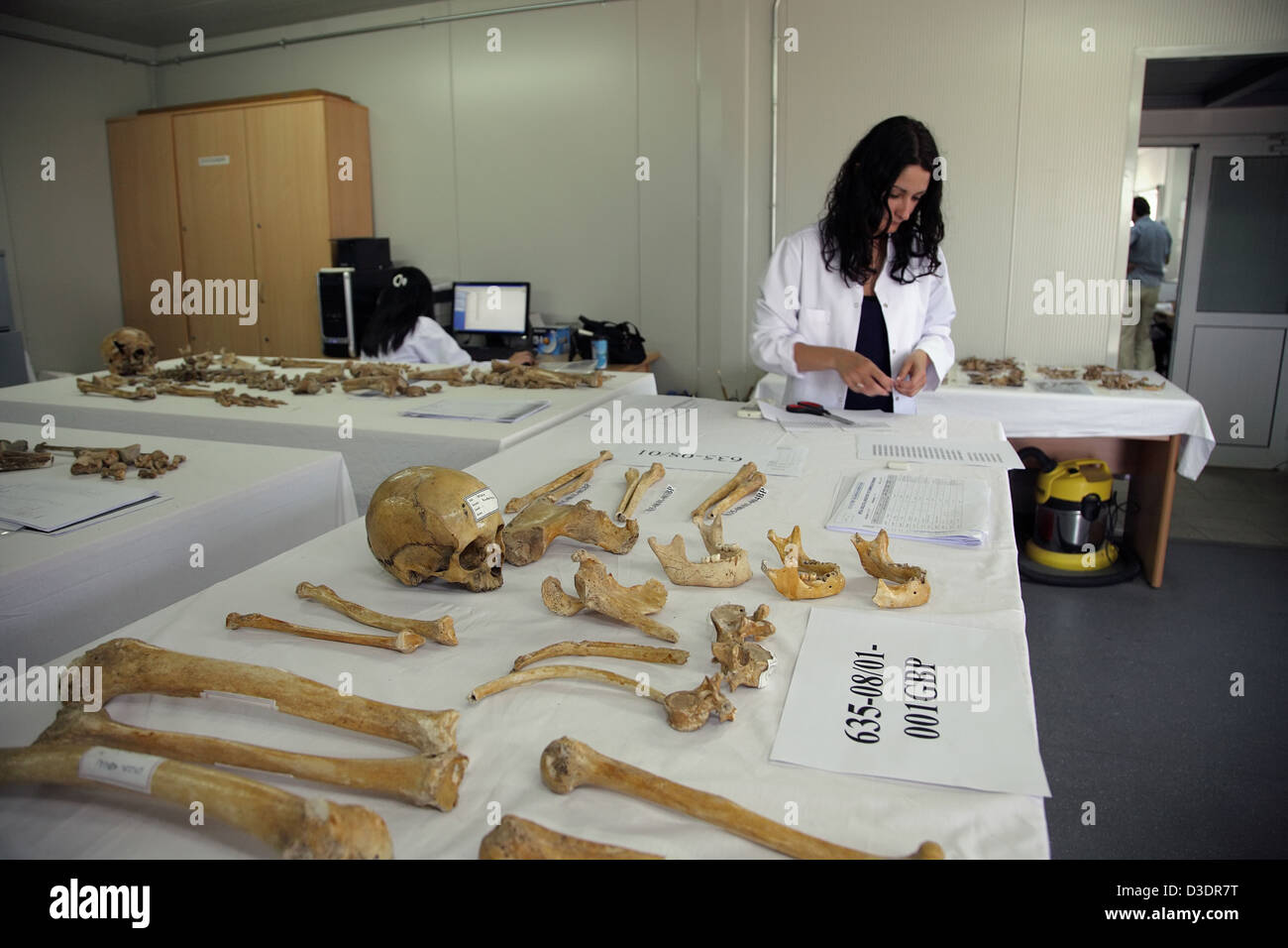 Anthropology lab of the Committee on Missing Persons in Cyprus - Stock Image
