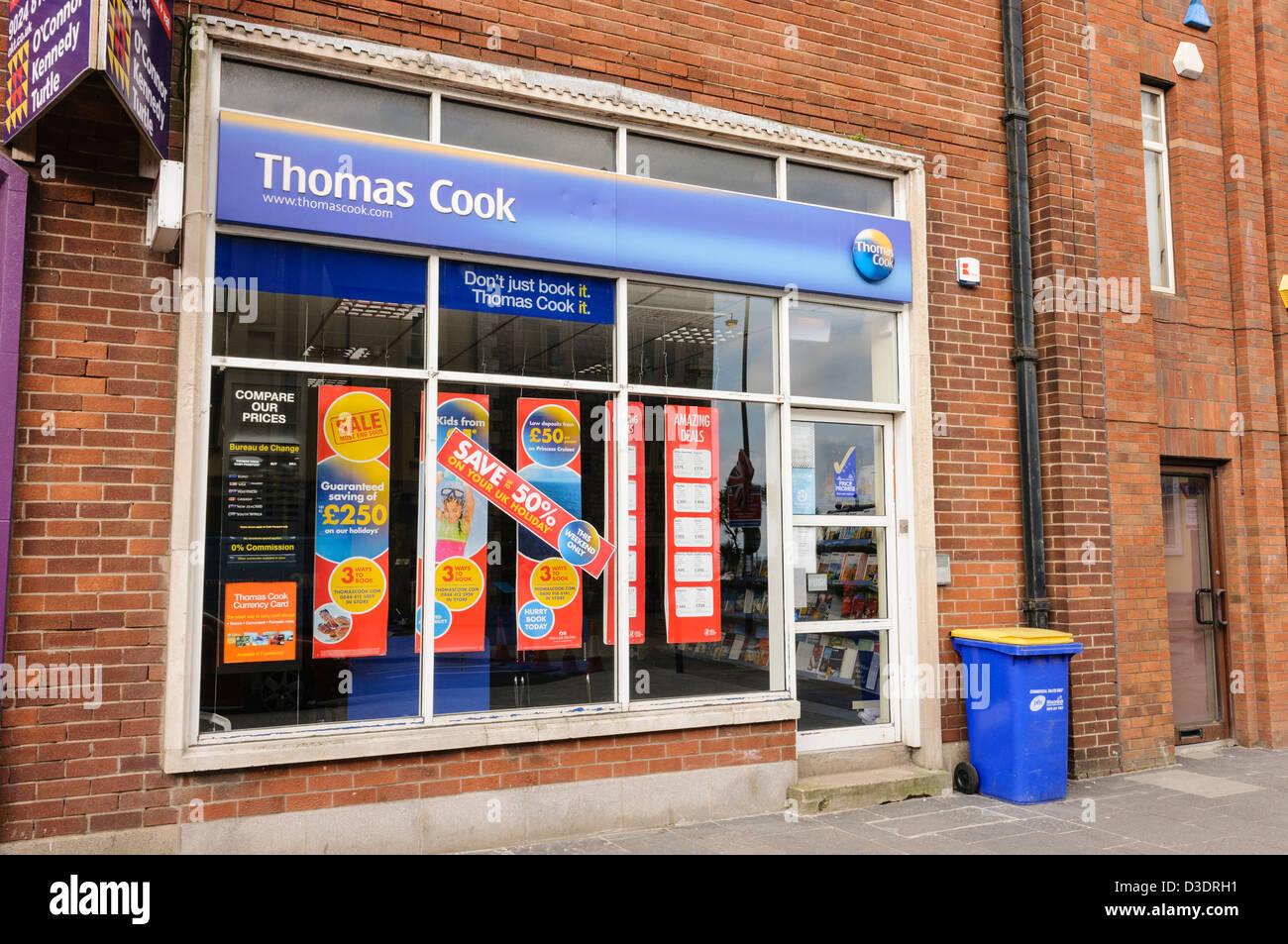 Thomas Cook travel agent, Carrickfergus - Stock Image