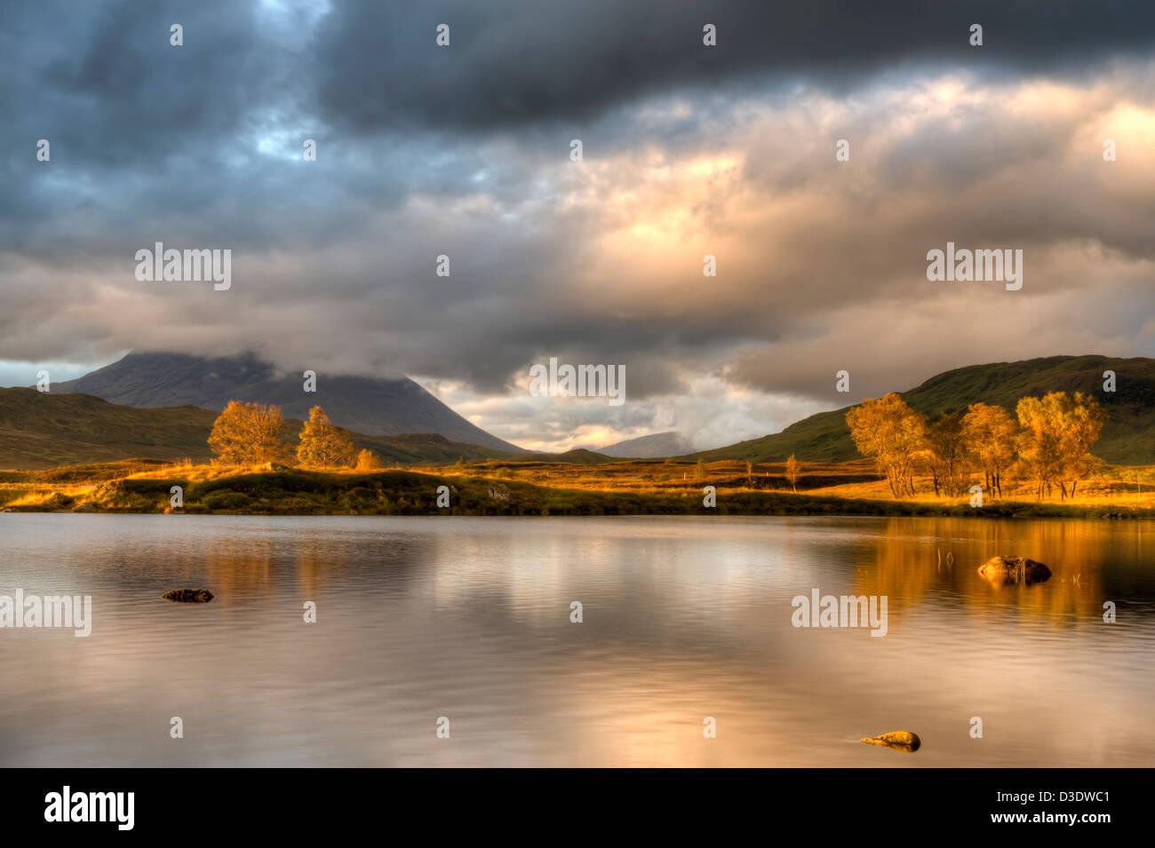 rannoch moor landscape, scotland - Stock Image