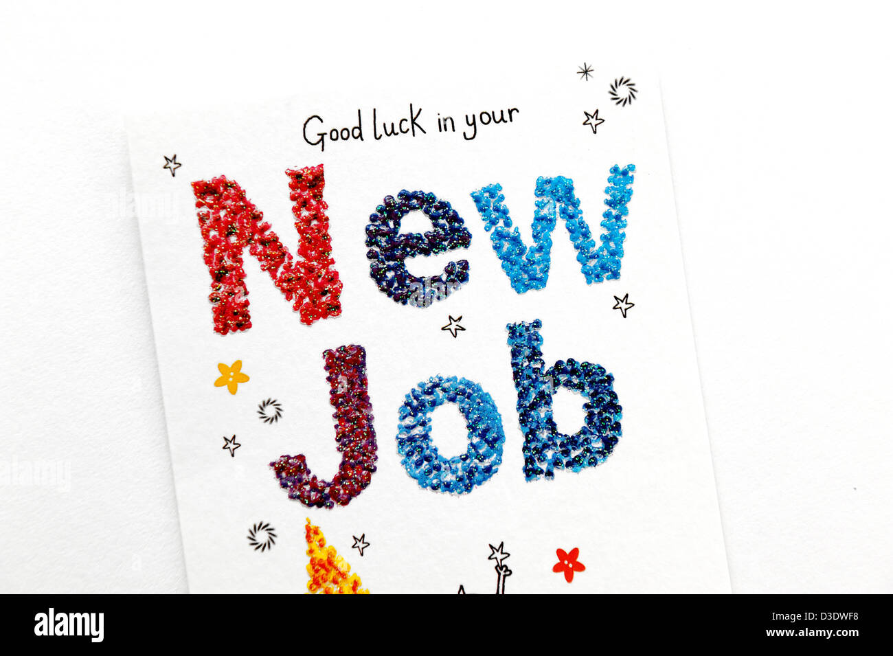 Good Luck In Your New Job Greeting Card Stock Photo 53780476 Alamy