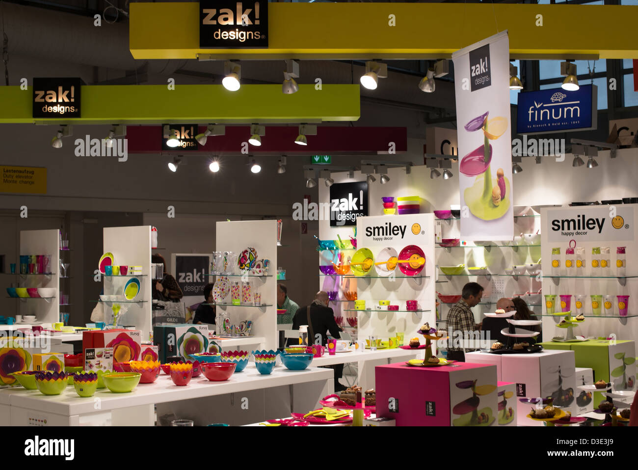 Zak Design booth of german company zak! designs on the ambiente trade fair on
