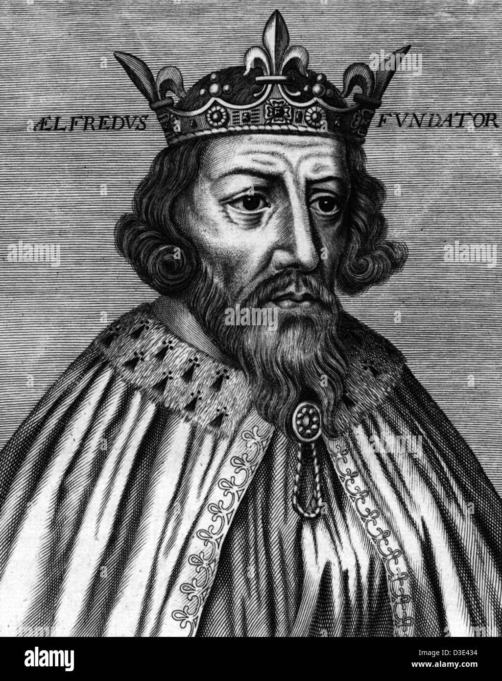 King Alfred the Great - Stock Image