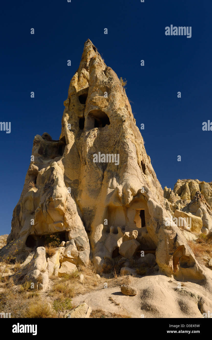 Cave dwelling Nuns Convent Monastery at Goreme Open Air Museum Cappadocia Turkey - Stock Image
