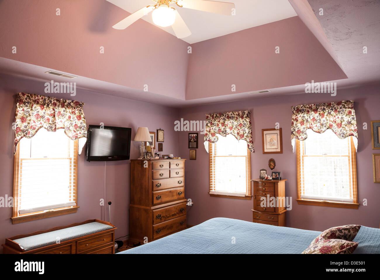 Showcase interior bedroom - Stock Image