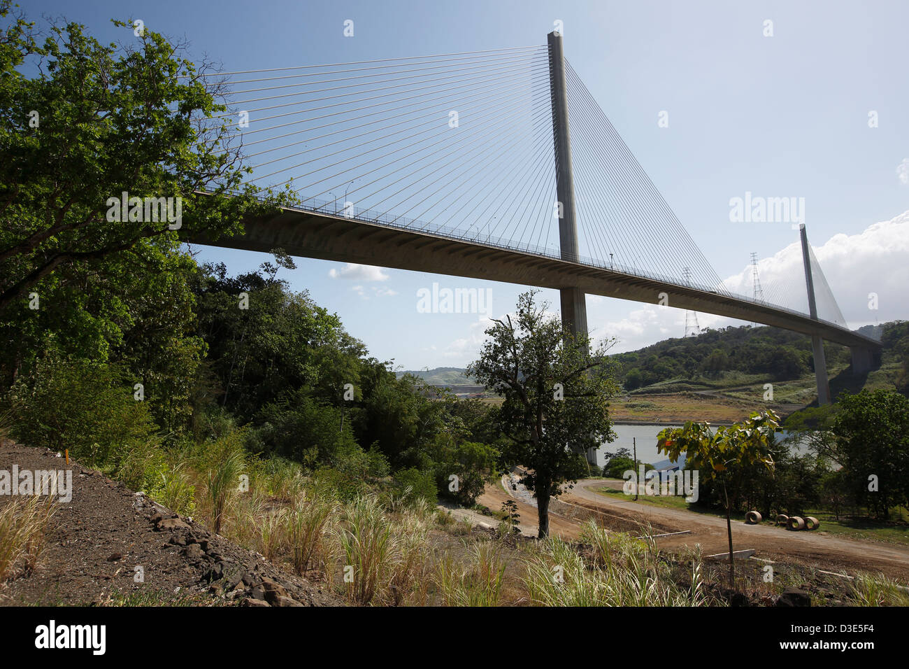 Centennial Bridge Panama Canal - Stock Image