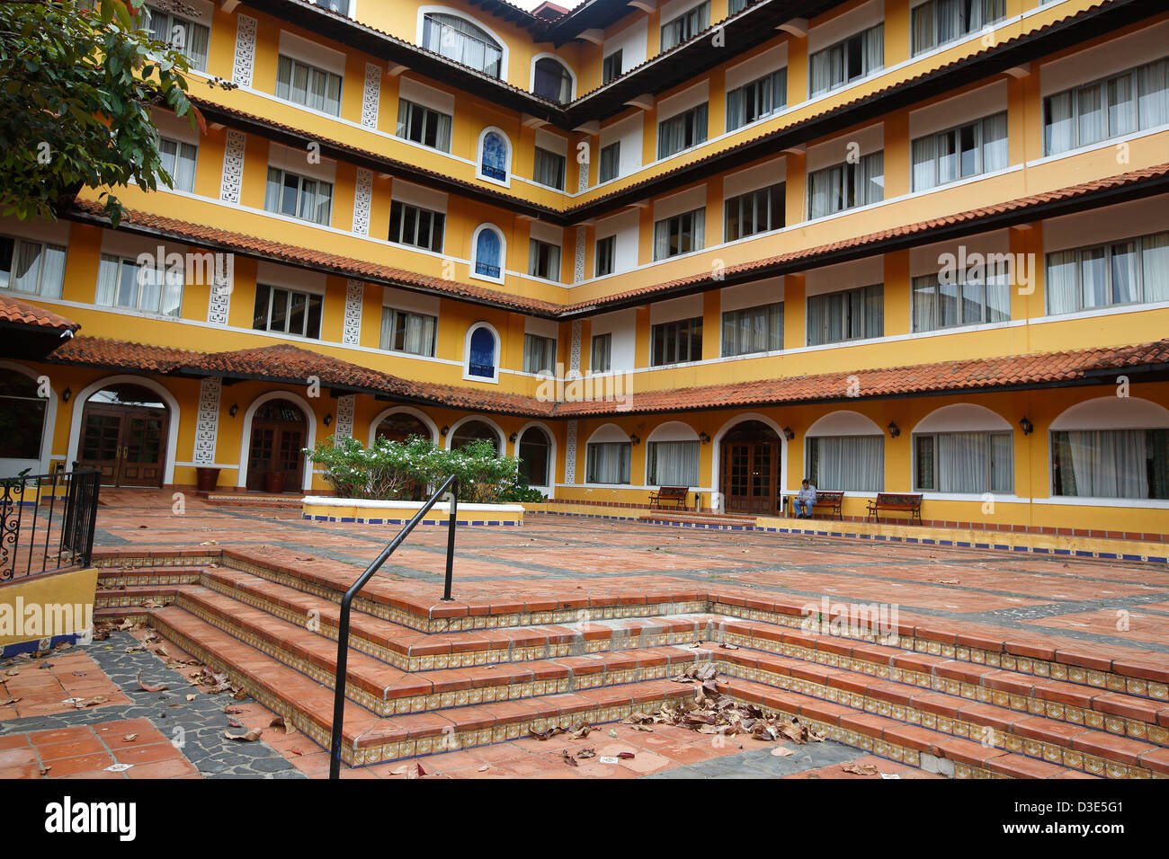 Former School of the Americas in the Canal Zone, now hotel Melia Panama Canal - Stock Image