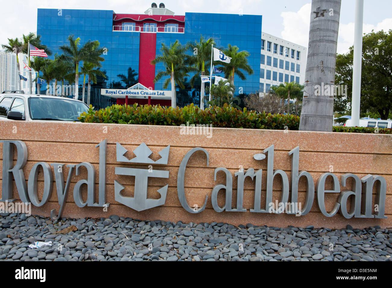The headquarters of cruise operator Royal Caribbean Cruises Ltd. - Stock Image