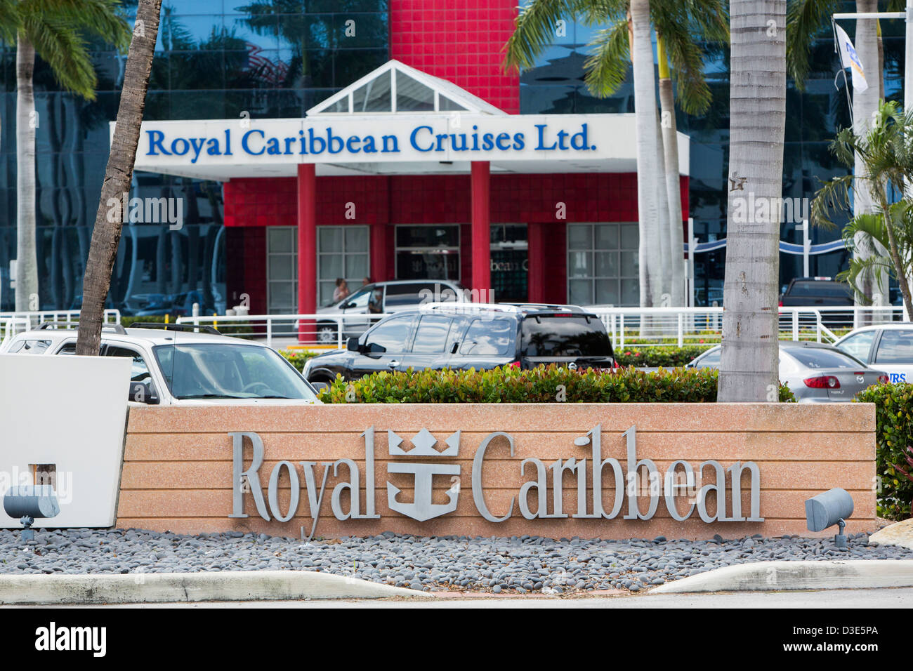 The headquarters of cruise operator Royal Caribbean Cruises Ltd. - Stock Image