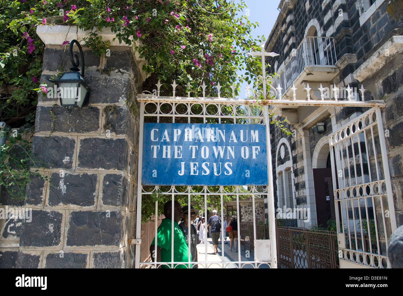 The ancient town of Capernaum played a very significant role in Jesus Christ's ministry. Stock Photo