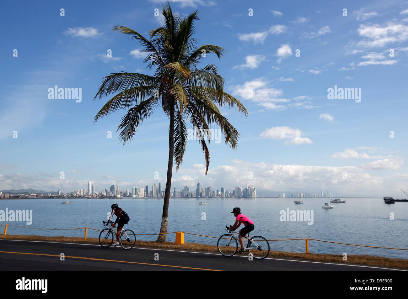 The Causeway, Amador, Panama City, Panama - Stock Image