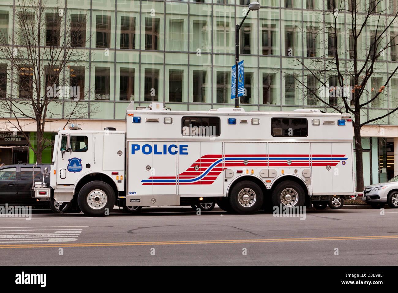 Police command center van - Washington, DC USA - Stock Image