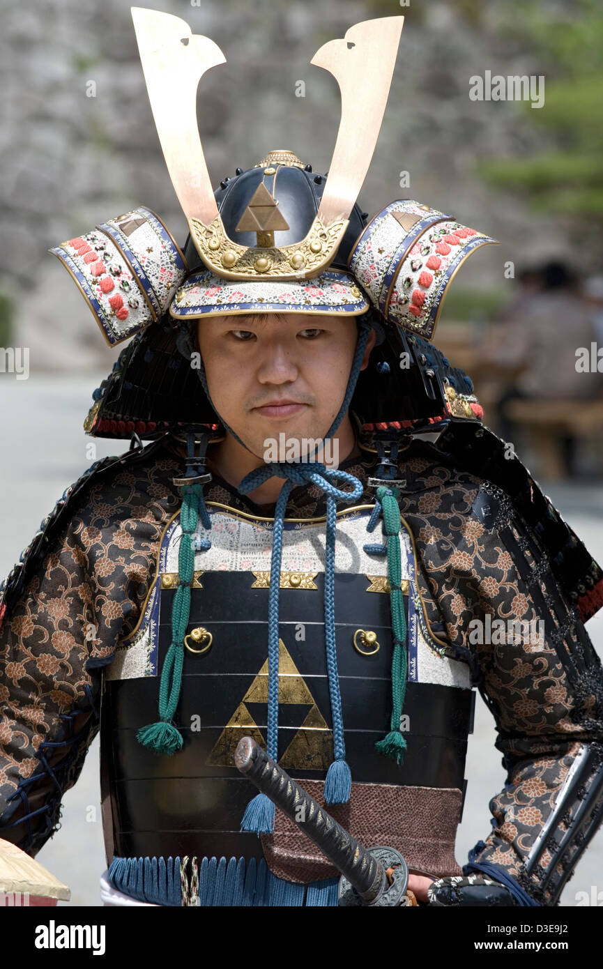 A Young Sunday Samurai Wearing A Traditional Warrior Armor Costume