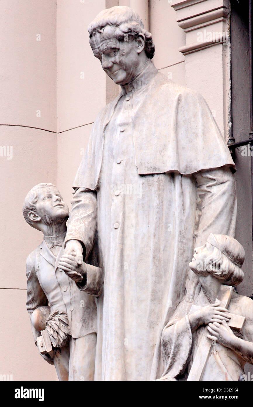 San Juan evangelista sculpture, at San Juan evangelista church. La Boca, Buenos Aires, Argentina (Saint John church) - Stock Image