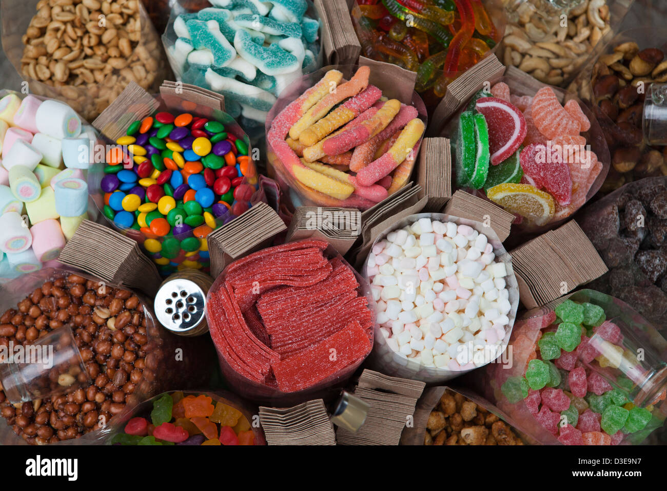 Pinoy candy or Native Filipino Fruit candies  - most are based on fruits, so it is imagined that they are 'healthy'. - Stock Image