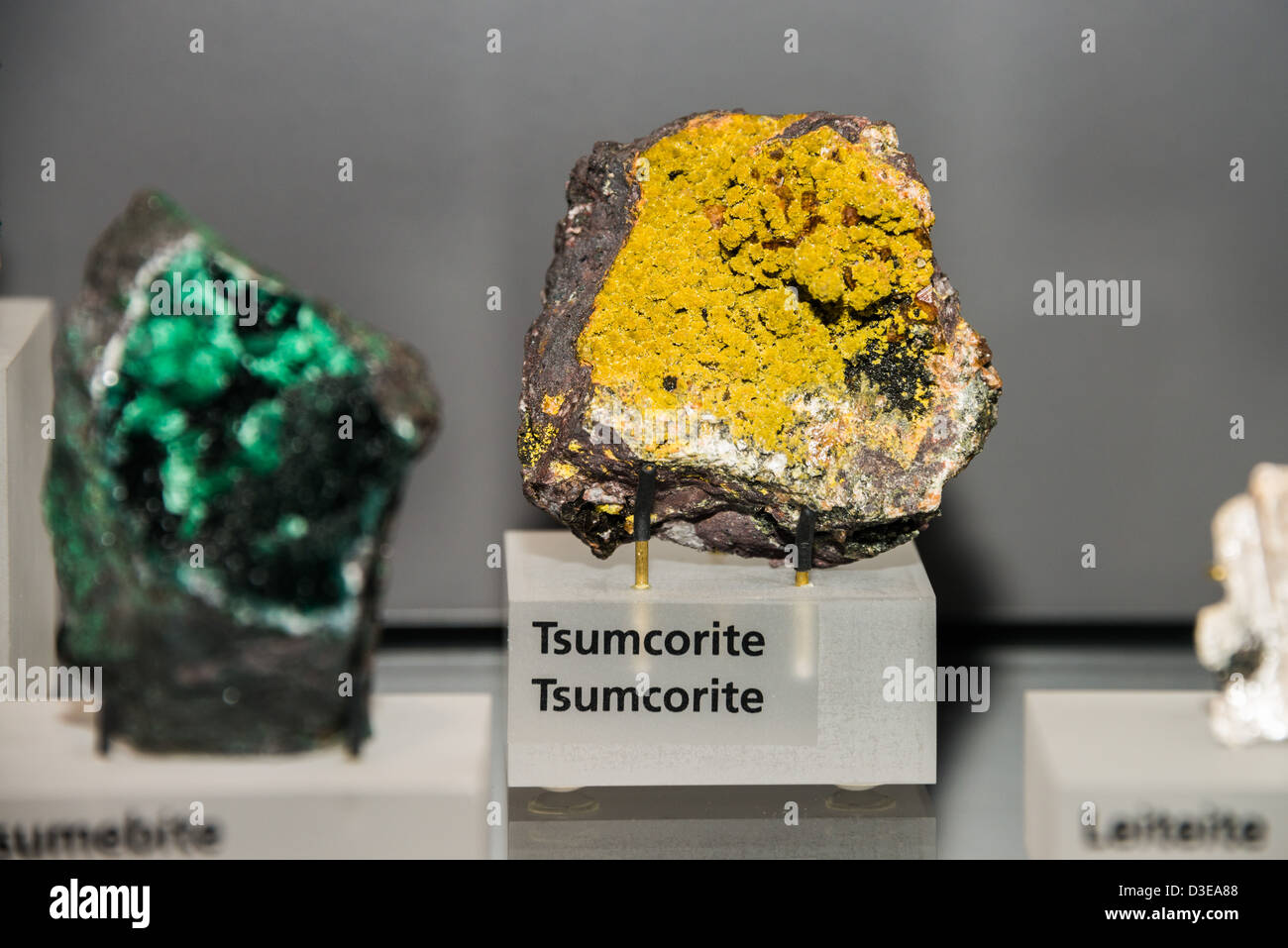 Mineral Exhibition at the Royal Ontario Museum, Toronto, Canada. - Stock Image