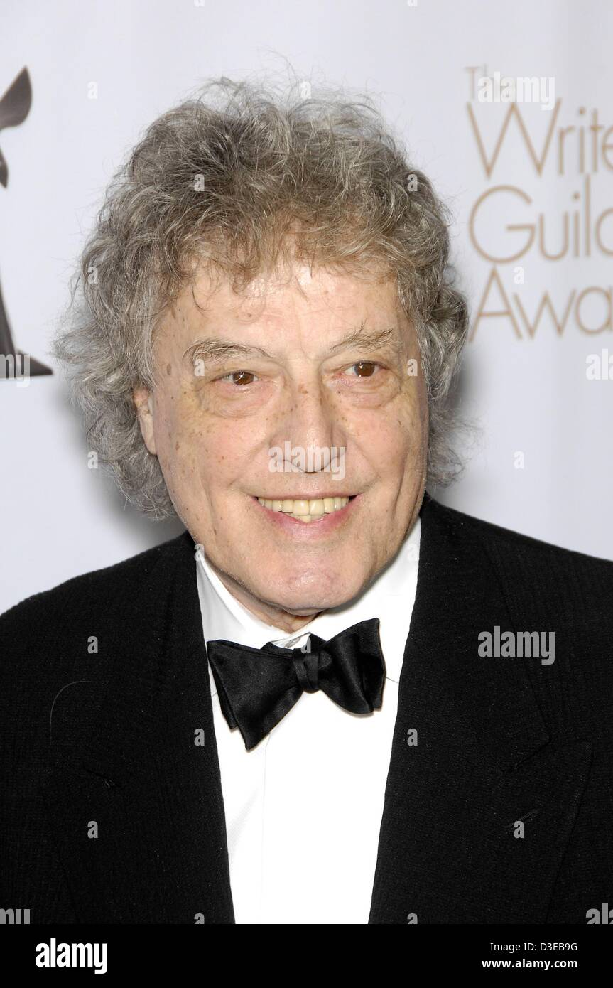 Tom Stoppard at arrivals for 2013 Writers Guild Awards Los Angeles, JW Marriot at LA Live, Los Angeles, CA February - Stock Image