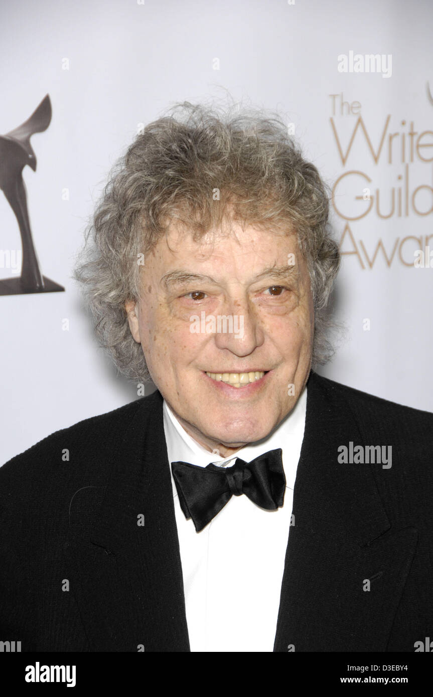 Feb. 17, 2013 - Hollywood, California, U.S. - Tom Stoppard during the 2013 Writers Guild of America, West Awards, - Stock Image