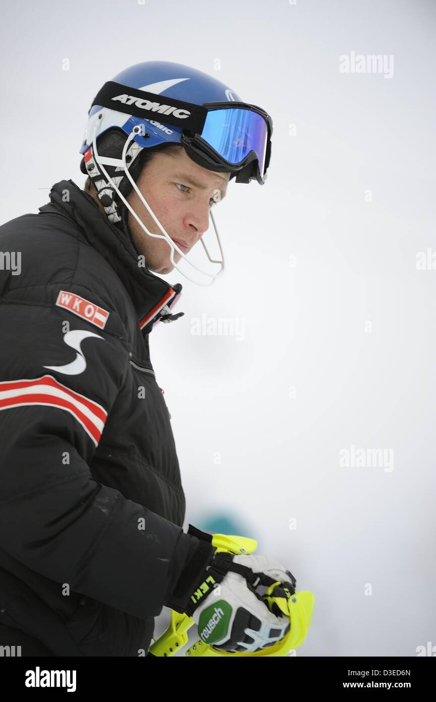 Benjamin Raich (AUT), FEBRUARY 17, 2013 - Alpine Skiing : FIS Alpine World Ski Championships 2013 Men's Slalom in Stock Photo