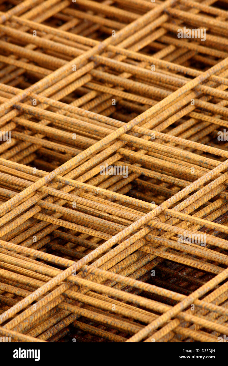 Reinforcement mesh - Stock Image