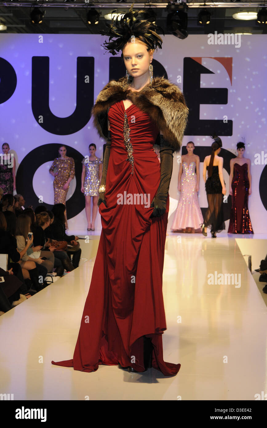 Models On Catwalk At Pure London - Stock Image