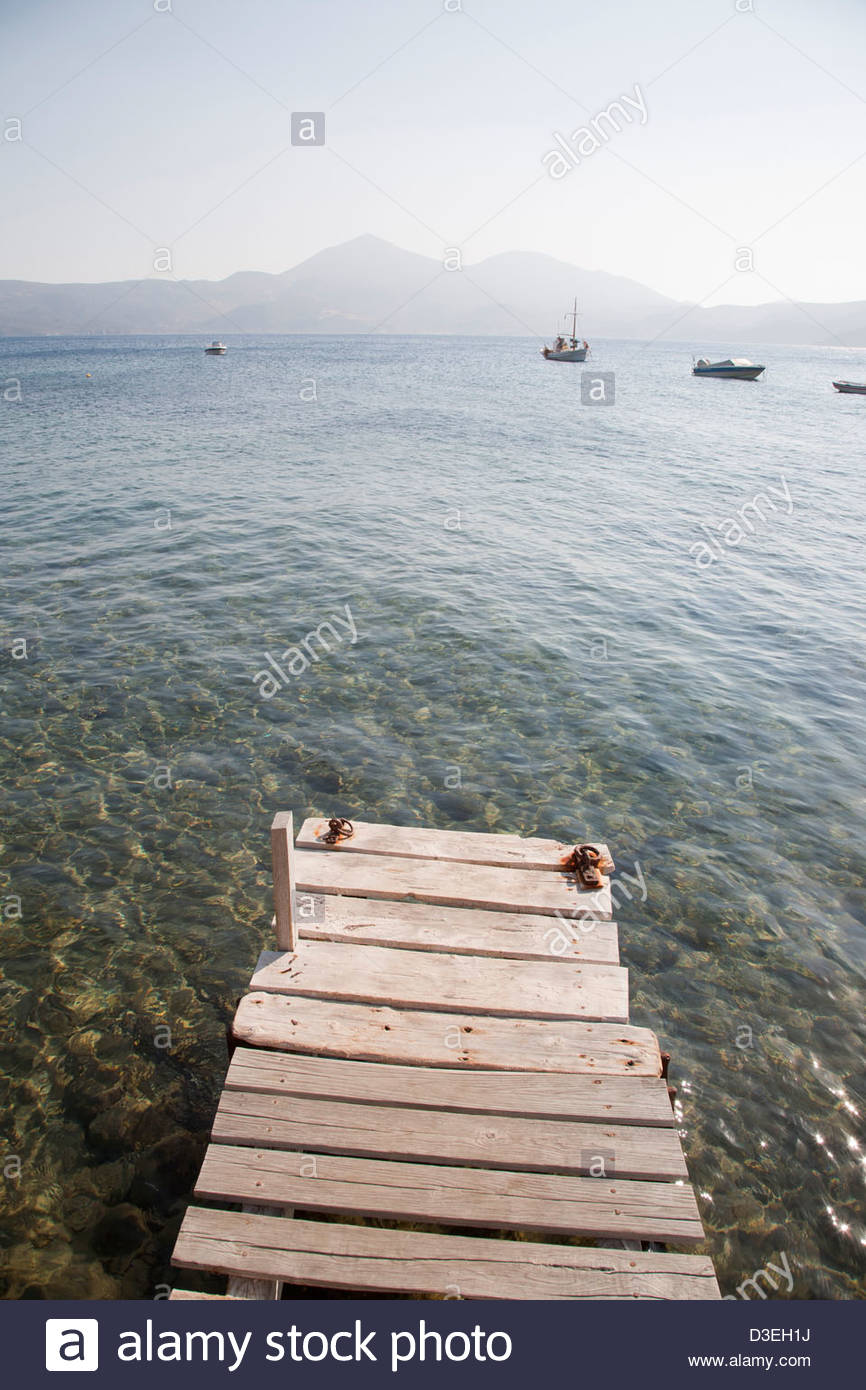 klima village,milos island,cyclades islands,greece - Stock Image