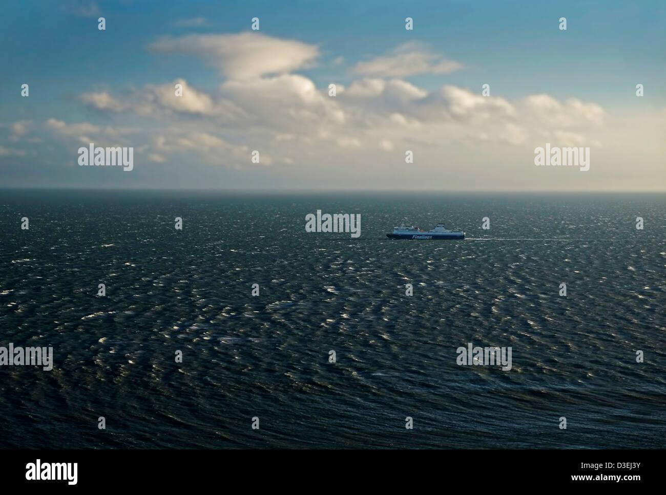 Finnlines Ferry Ship in Dublin Bay. - Stock Image