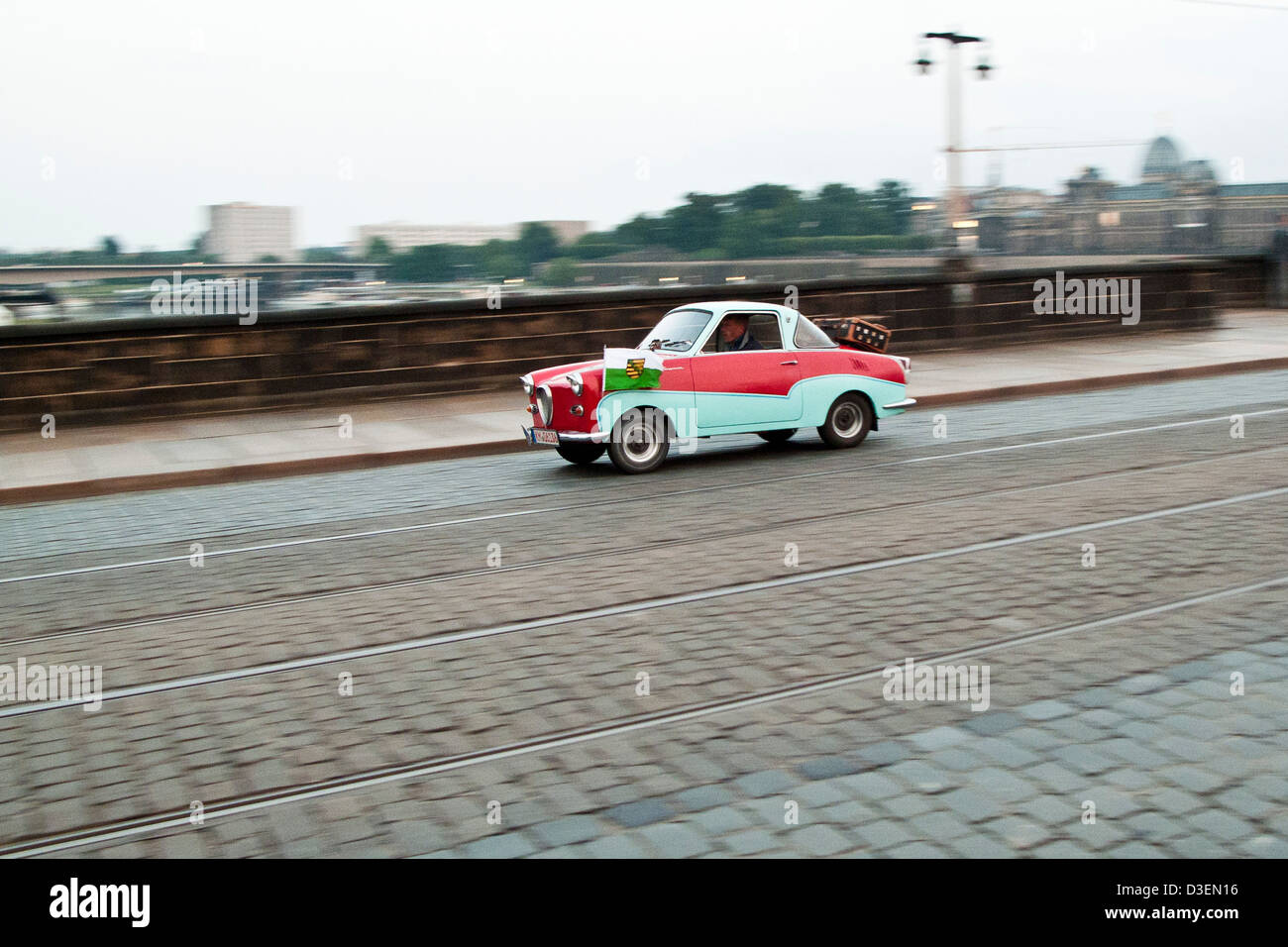 The old East German car Trabant - Stock Image