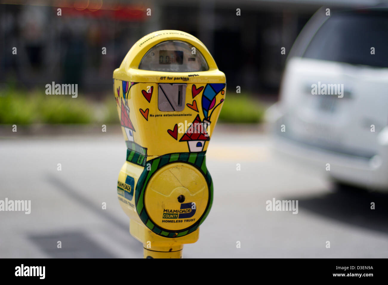 Parking meter for charity - Stock Image