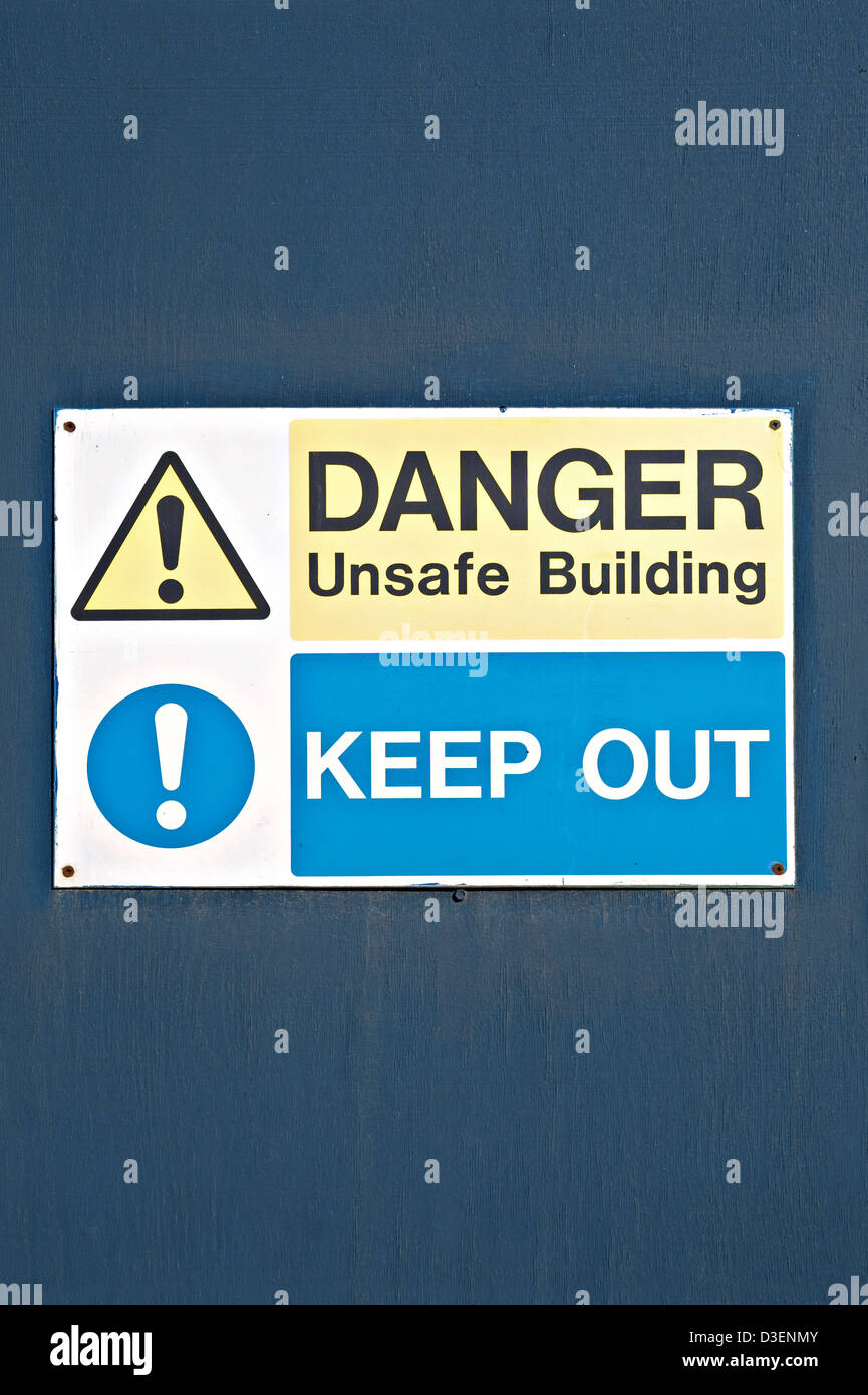A 'Danger Keep Out' sign, UK - Stock Image