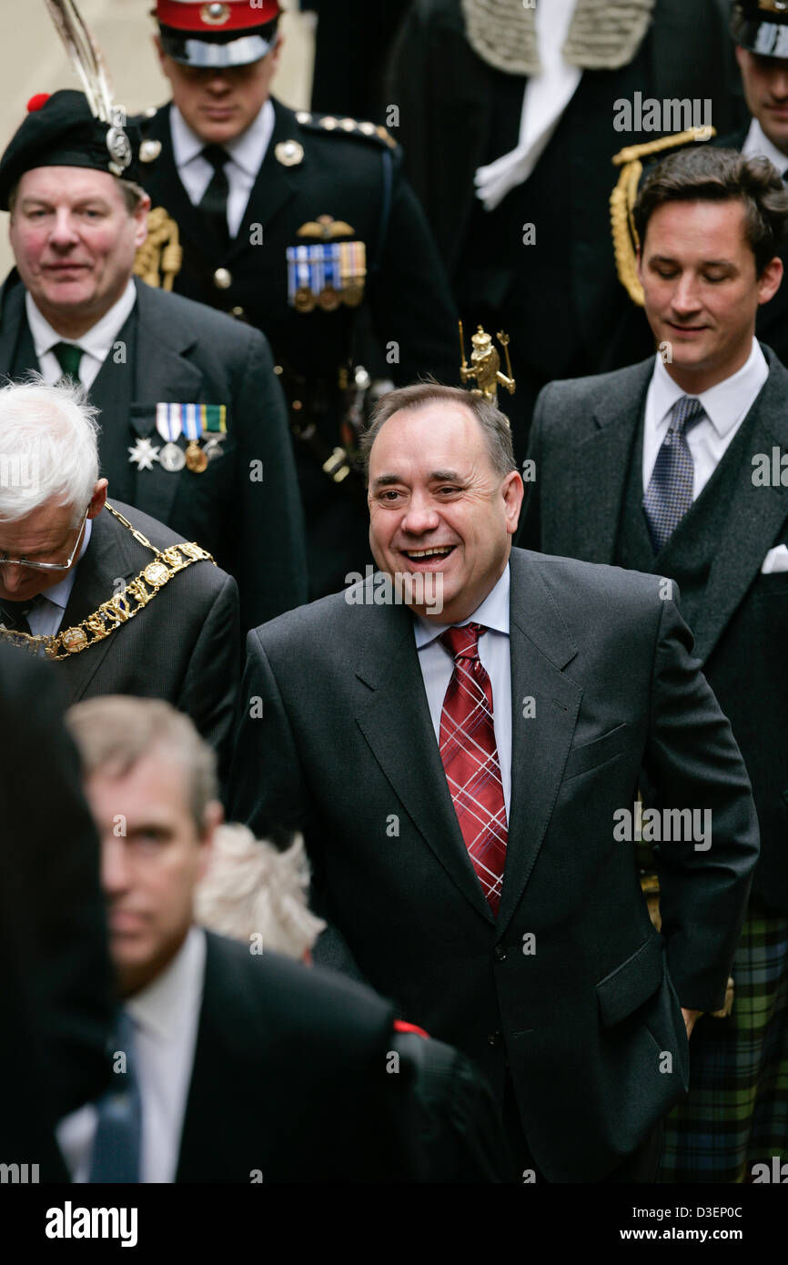 Scotland's First Minister, Alex Salmond attending The General Assembly of the Church of Scotland, 2007 - Stock Image