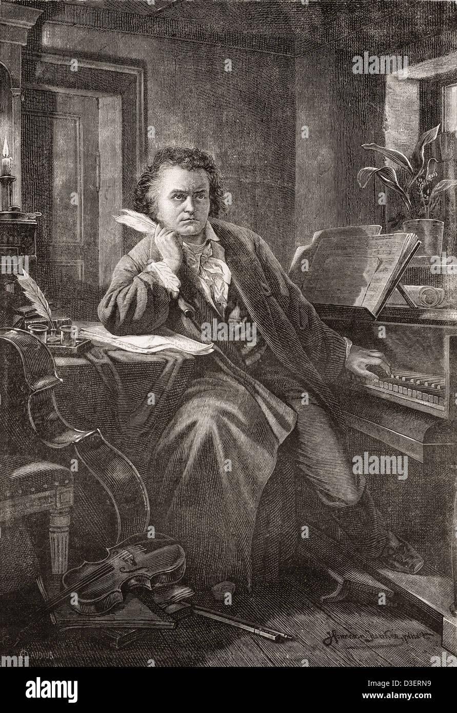 Ludwig van Beethoven, 1770 - 1827. German composer and pianist. - Stock Image